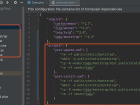 composer安装bootstrap的引用方法
